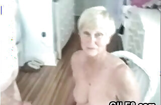 Naughty Granny Gives Her Man A Blowjob - 3:06