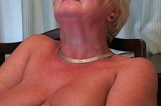 Busty and curvy grandma Sandie - 15:46