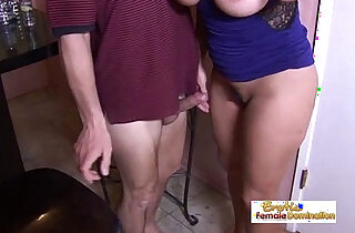Tipsy milf slut drilled hard by the horny bartender at the bar - 18:25