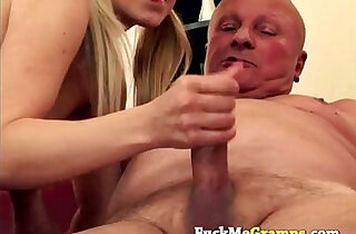 Teen and grandpa madly in love - 5:13
