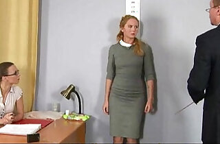 Humiliating nude job interview for shy blonde cam girl - 6:39