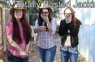girls bust you jacking off CFNM taboo jo encouragement - 4:56