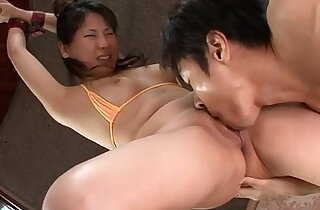 Emiri Takeuchi in cuffs has her trimmed pussy licked and fucked - 5:19