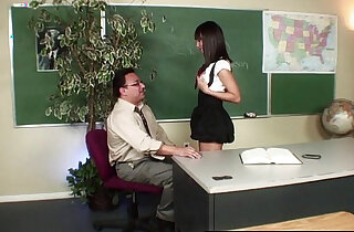 Naughty Nadia fucking her teacher to get out of trouble - 11:47