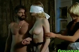 Blindfolded Blonde Pleasured In An Orgy - 7:51