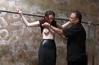 Filthy slaveslut whipping and dirty dungeon tortures of breast spanked amateur - 6:16