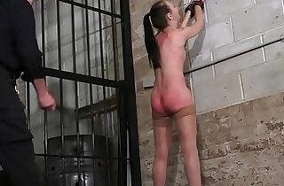 Strict whipping of amateur slave Lolani and spanking punishment of striped masoc - 7:59