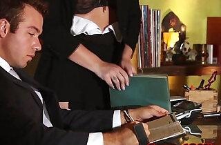 Redhead office secretary banging the boss - 11:18