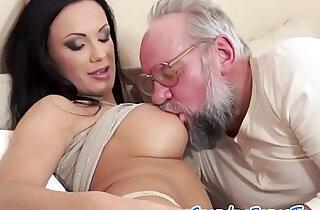 Teen beauty pleasured by lucky grandpa - 7:08