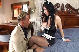 Maid fucking in her uniform and fishnet stockings - 6:48