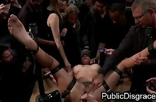 Busty babe fucked in public - 5:58