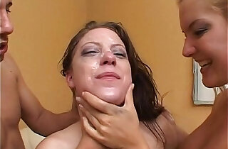 Barbara Summer and Christie Lee get their faces fucked hard. Extreme deep in her throat gagging. - 16:27