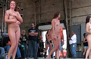 gorgeous biker chicks getting fully nude in iowa wet tshirt contest - 26:05