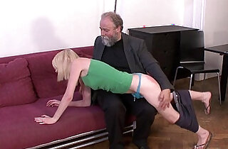 Older man younger woman oral exchange - 7:00