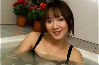 Japanese Model fondles her twat and boobs - 7:01