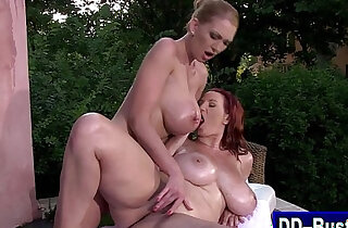 Massive tits get massage and licked - 8:35