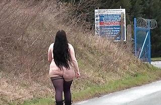 Fat amateur flasher Emmas public exhibitionism and voyeur bbw babe nude - 5:27