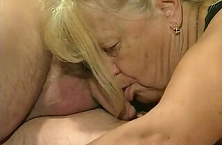 Two granny fucked in foursome action - 6:31