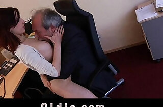 Old boss fuck his sexy young assistant in the office - 6:42