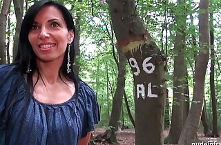Georgous amateur milf gets rendez vous in a wood before anal sex at home - 56:05