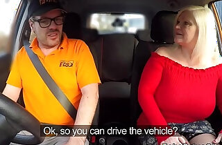 Huge round tits granny bangs driving instructor - 7:26