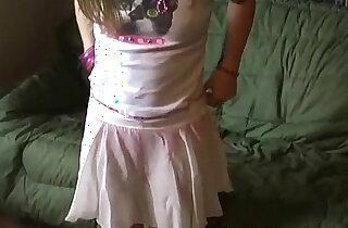 Petite teen Kitty in a cute little pink skirt - 4:41