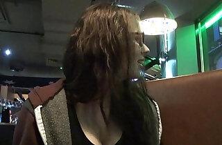 Upskirts toilet trip peeking and secret voyeur masturbation in a public bar - 7:09