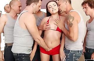 Teen Adria Rae first blowbang experience - 5:47