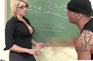 Sinfully teacher Brooke Haven fucking her younger student - 9:35