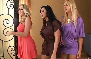 Brianna Beach, Veronica, Alana tease a nerds lucky cock - 4:26
