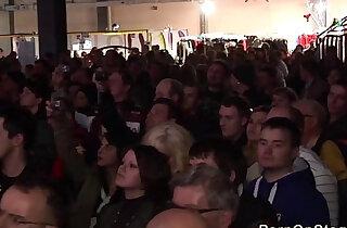 crazy lesbian show on public stage - 14:31