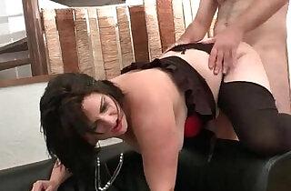 BBW French slut hard double penetrated - 6:59