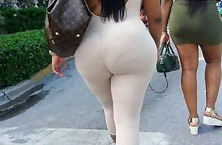 See through leggings visible thong booty - 2:21