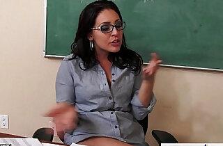 Busty teachers Gracie Glam, Kendra Lust sharing student - 10:08