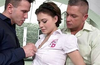 Schoolgirl Veronica Morre double penetration - 6:17