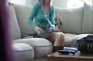 Caught sister masturbating watching porn in camera - 12:50