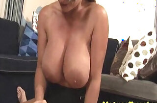 Tugging monsterboobs milf around with dick - 5:46