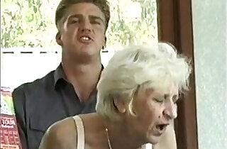 Ficky Martin fucks a blonde hairy granny very hard on the hotel desk - 13:51