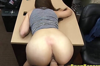 Tall Brunette Babe sucks and Fucks In Her High Heels - 8:14