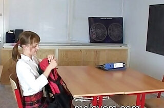 Sian And Hery barely legal teens sex in school classroom - 24:39