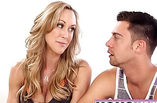 MomsTeachSex Hot Yoga Mom Fucks Son And Teen GF - 12:32