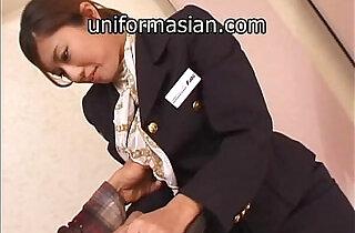 Asian Hairy Air Hostess in uniform getting sex - 8:42