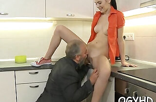 Cute young gal drilled by old dude - 5:41