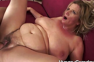 Hairy granny cunt for younger dude - 6:57