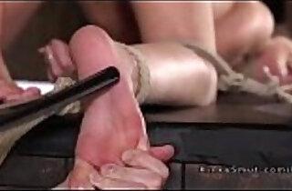Tattooed college brat fucked in bondage - 6:05