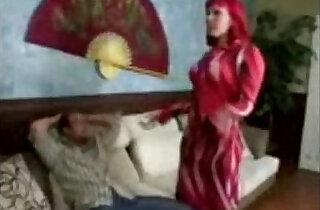 Dirty redhead stepmom seduces stepson to make him leave - 4:24